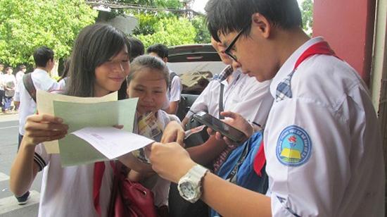 Hôm nay, gần 69.000 học sinh TP HCM thi vào lớp 10. (Ảnh: Đài Tiếng nói nhân dân TP HCM)