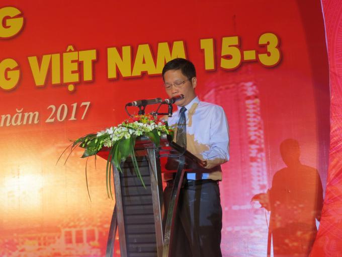 Bộ trưởng Bộ Công thương, Trần Tuấn Anh phát biểu tại buổi lễ.