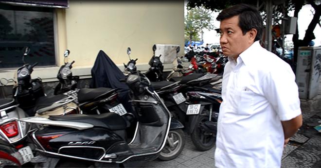 Ông Đoàn Ngọc Hải trong một lần xử lý bãi xe trên địa bàn vào năm 2017