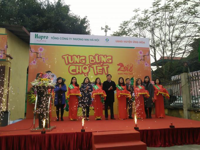 Khánh thành chợ tết Hapro tại huyện Ứng Hòa.