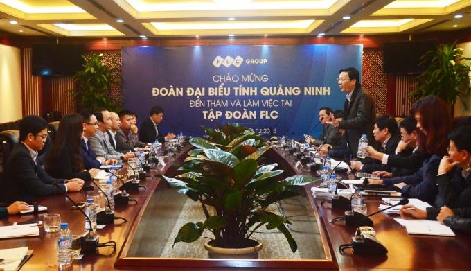 Thường vụ Tỉnh ủy tỉnh Quảng Ninh thăm và làm việc tại trụ sở Tập đoàn FLC.