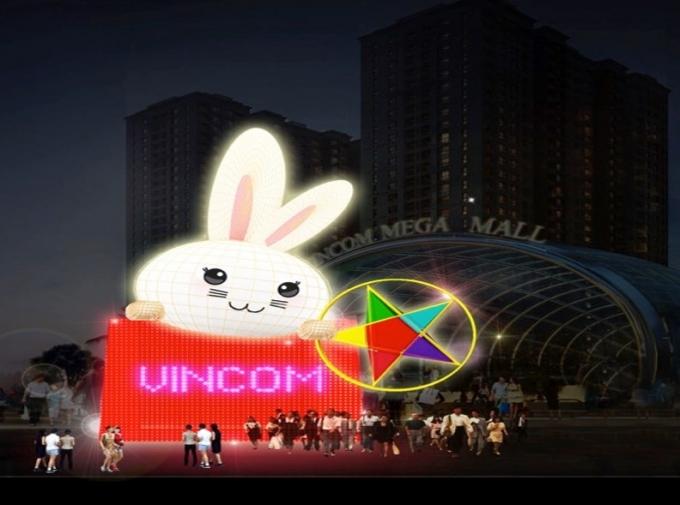 Phối cảnh Đèn lồng thỏ Vọng Nguyệt đạt kỷ lụcViệt Nam.