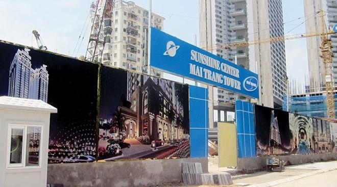Dự án Mai Trang Tower vừa bất ngờ có chủ đầu tư mới và đổi tên thành Sunshine Center. Ảnh: Phương Anh.