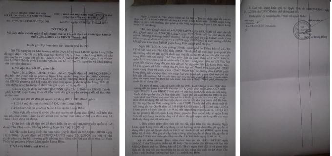 Tờ trình số 2120/TTr - STNMT- CCQLĐĐvề việc điều chỉnh một số nội dung ghi tại Quyết định số 5688 ngày 21/12/2006 của UBND thành phố.