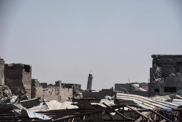 Đền thờ al-Nuri bị phá huỷ. (Ảnh: NYTimes).