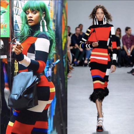Trang phục nổi bật luôn trở thành lựa chọn hàng đầu của Rihanna mỗi khi xuất hiện trên phố. Vì là một trong