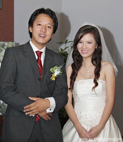 Đan Lê với người chồng đầu tiên là BTV Xuân Tùng. Ảnh: internet.