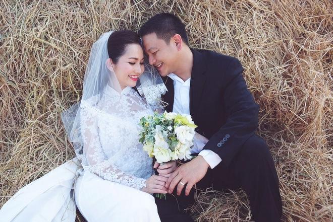 Kim Hiền trong bộ ảnh cưới với người chồng thứ 2 là doanh nhân Andy. Ảnh: internet.