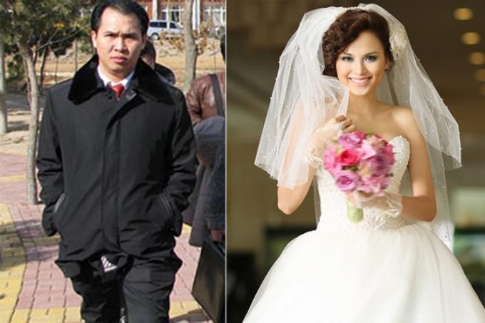 Diễm Hương và người chồng đại gia. Ảnh: internet.