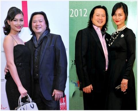 Đỗ Hải Yến bên người chồng thứ 2 là một Việt Kiều Mỹ- Calvin Tài Lâm. Ảnh: internet.