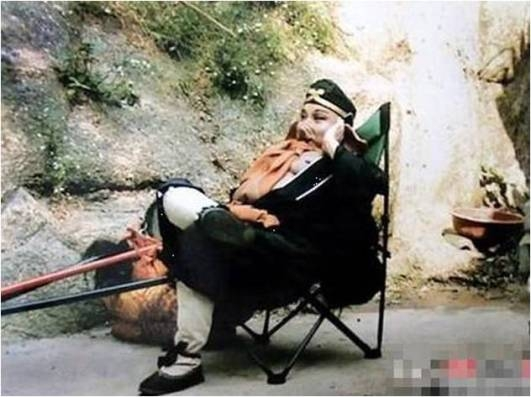 Lão Trư và giây phút nghỉ ngơ. Ảnh: internet.