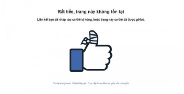 Trang facebook của Kỳ Hân đã khóa. Ảnh: internet.