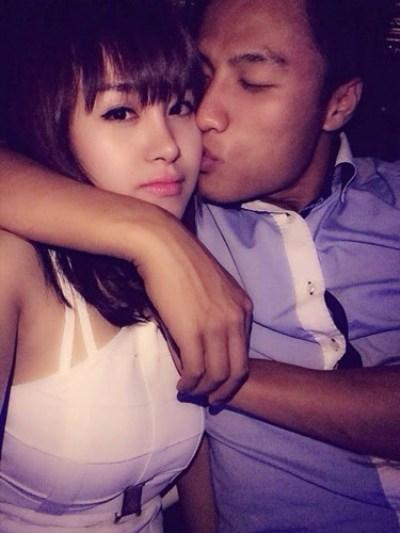 Sau khi lộ bức ảnh khóa môi với Bà Tưng đã rấy lên tin đồn hẹn hò giữa 2 người. Ảnh: internet.