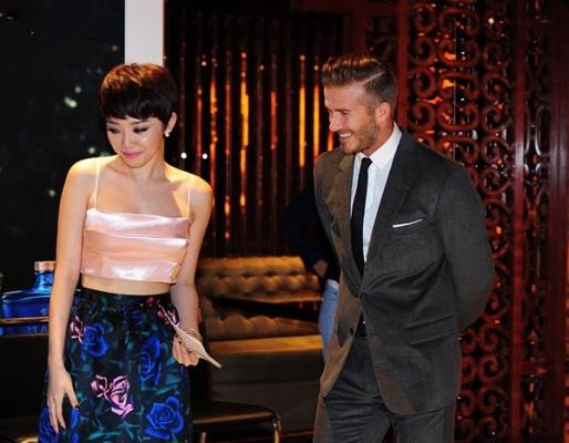 Đây là lần thứ 4, Tóc Tiên được gặp Beckham. Ảnh: internet.