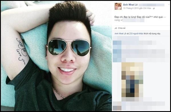 Những status tình cảm ngọt ngào của Miu Lê dành cho chàng trai này. Ảnh: internet.