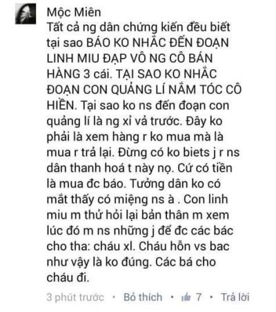 Nhiều người đứng ra phản pháo câu chuyện của Linh Miu và tố cáo cô vô lễ. Ảnh: internet.