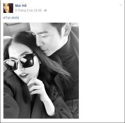 Cả 2 không ngần ngịa trao nhau những cử chỉ thân mật và tình cảm trong xe. Ảnh: facebook.