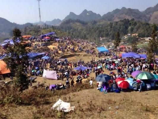 Lễ hội được diễn ra cho đến hết ngày mùng 7 Tết âm lịch. Arnh: Bảo Yến.