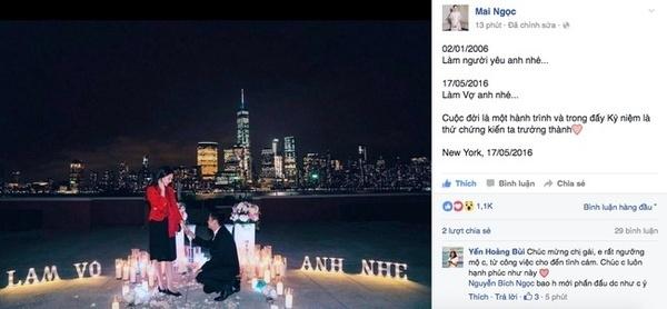 Màn cầu hôn lãng mạn của bạn trai dành cho cô MC thời tiết xinh đẹp trên đất Mỹ.