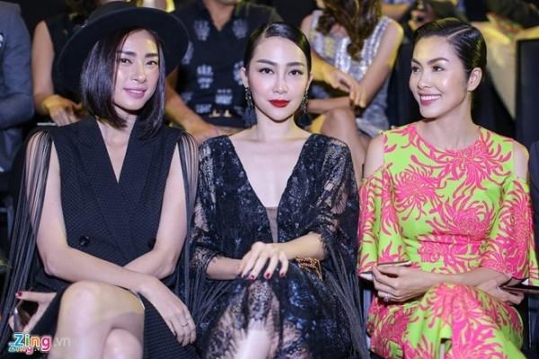 Ngô Thanh Vân, Linh Nga và Tăng Thanh Hà ngồi cùng một hàng ghế.