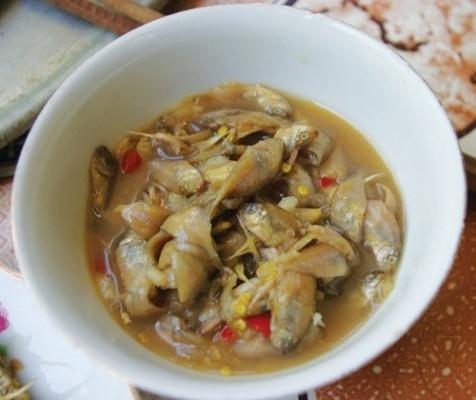 Mắm cá giò nhí - món ăn dân dã ở Lý Sơn.