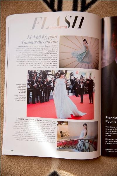Tiếp theo, ngày 21/5 tạp chí Gala của Pháp cũng dành riêng một trang để giới thiệu về Lý Nhã Kỳ.