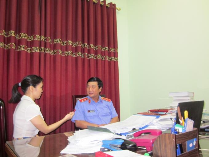 Ông Dương Văn Phùng, Vụ trưởng Vụ 5 - VKSNDTC trả lời PV Pháp luật Plus.