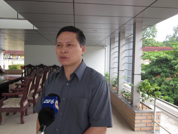 Trung tướng Trần Văn Độ trong một lần trả lời báo chí (Ảnh Phapluatplus.vn).
