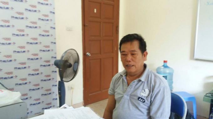 Ông Nguyễn Văn Tuấn trình bày sự việc tại trụ sở tòa soạn Phapluatplus.vn.