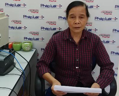 Bà Nguyễn Thị Bính tại Tòa soạn Phapluatplus.vn