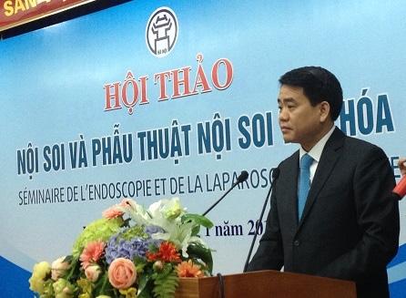 Chủ tịch UBND TP Hà Nội Nguyễn Đức Chung mời 4 chuyên gia phẫu thuật nội soi hàng đầu thế giới đến Hà Nội. Ảnh: Internet.