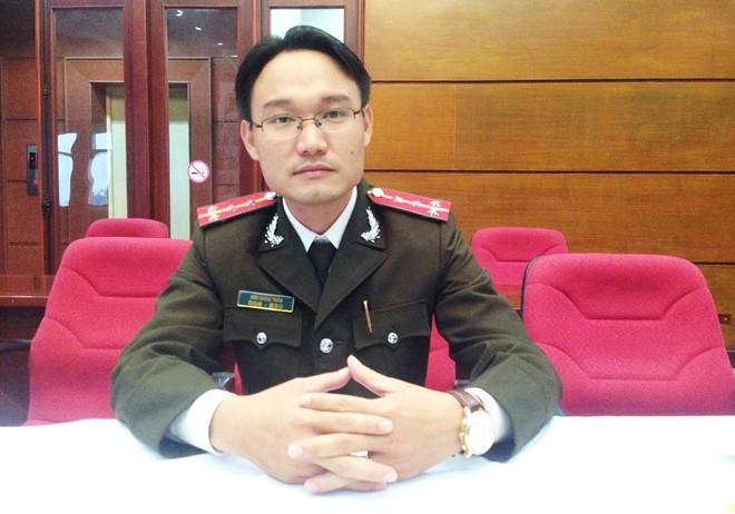 Đại úy Ngô Ngọc Trân.Ảnh:Nguyễn Sương.