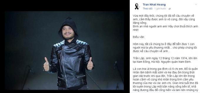 Kết thúc tang lễ Rocker Trần Lập: Chính thức chia lìa âm - dương!