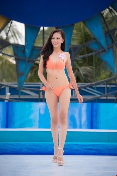 Thí sinh Trần Thị Thùy Trang, SBD 255, cao 1,80m.Điểm thu hút của thí sinh này là đôi chân dài thẳng tắp. Trong suốt quá trình catwalk, Thùy Trang luôn giữ nụ cười trên môi. Trần Thị Thùy Trang sở hữu số đo 3 vòng: 85-66-95.