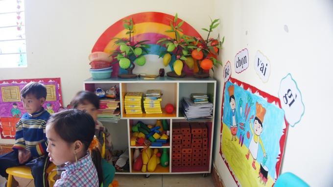 Bên trong ngôi trường mới được hoàn thành.