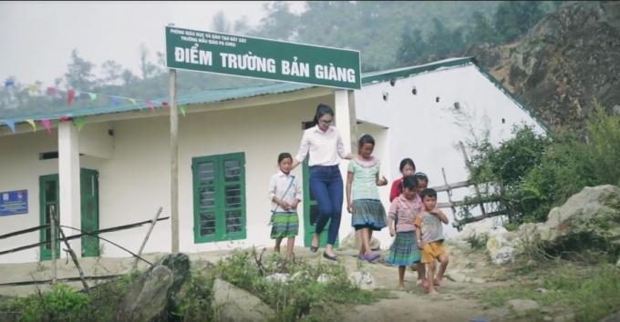 Ngôi trường khi được hoàn thiện.