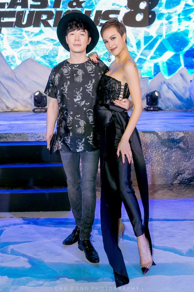 Siêu mẫu Phương Mai và Hari Won đen huyền bí trong buổi ra mắt bom tấn Fast & Furious 8