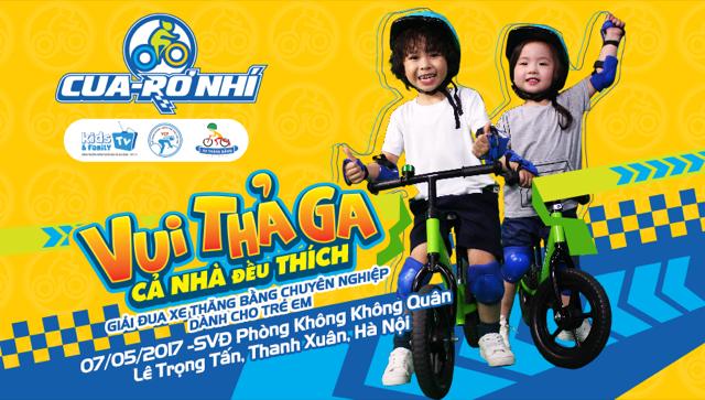 Giải đua xe thăng bằng quy mô lớn cho trẻ 1-6 tuổi.
