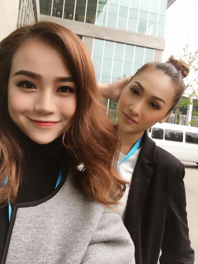 Kiều Ngân và Khánh Ngọc.