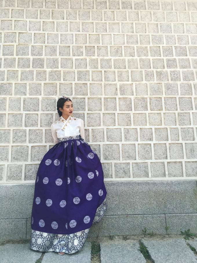 Hoa hậu Kiều Ngân hóa nàng Dae Jang Geum xinh đẹp, dịu dàng.