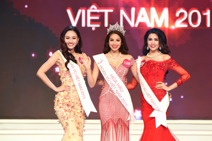 Top 3 Hoa hậu Hoàn vũ 2015.