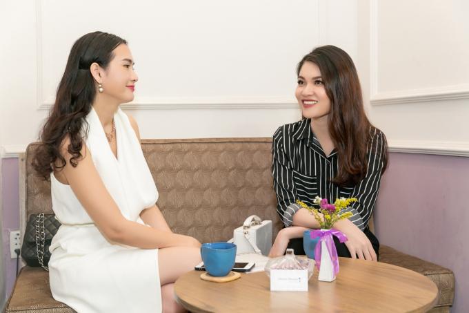 Diễn viên Anh Thư tư vấn làm đẹp cho Á hậu Thuỳ Dung trước khi thi Hoa hậu Quốc tế
