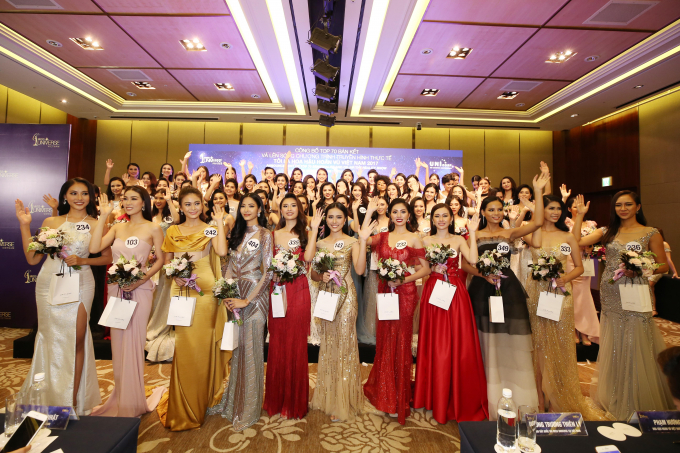 Top 70 thí sinh vòng Bán kết Hoa hậu Hoàn vũ 2017.