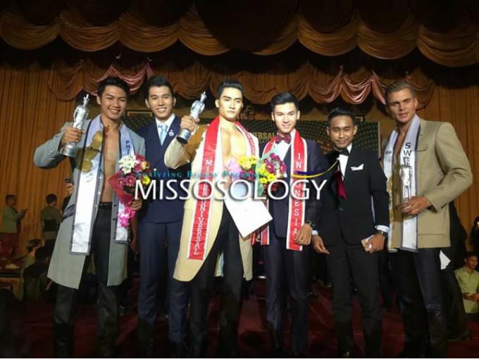 Lương Gia Huyxuất sắc lần lượt giành chiến thắng tại hai cuộc thi dành cho quý ông là Nam vương Đại sứ Hoàn vũ (Mister Universal Ambassador) .