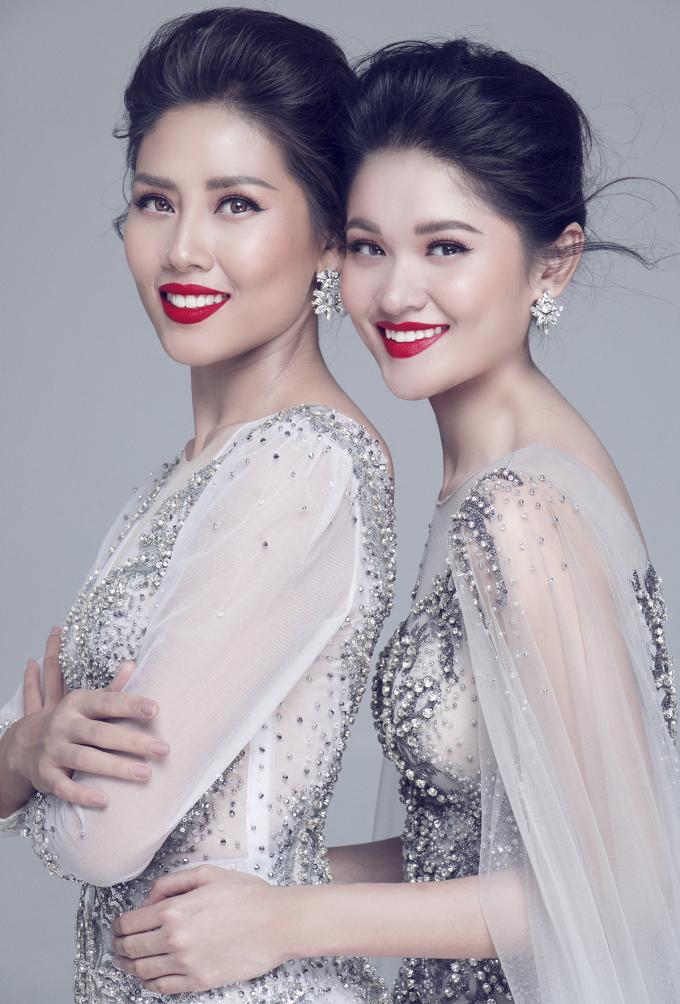 Nguyễn Thị Loan gửi lời chúc may mắn đến Á hậu Thuỳ Dung trước chung kết Hoa hậu Quốc tế 2017