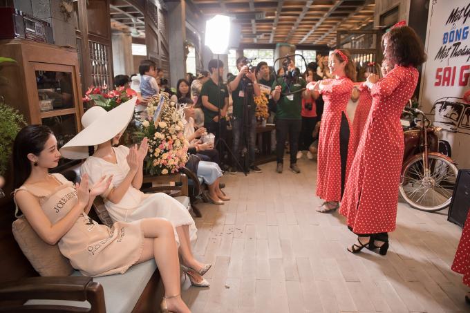 Hà Thu - Jun Vũ diện váy cổ điển đọ sắc tại sự kiện