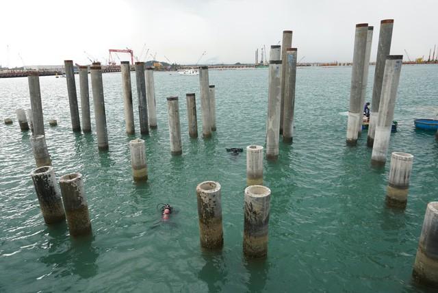 Khu vực tàu cổ bị đắm ở vùng biển Dung Quất, Quảng Ngãi.