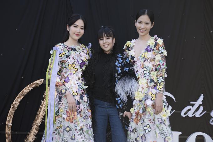 Theo concept của AMI Fashion show lần này là trang phục màu trắng, hầu hết các khách mời đều