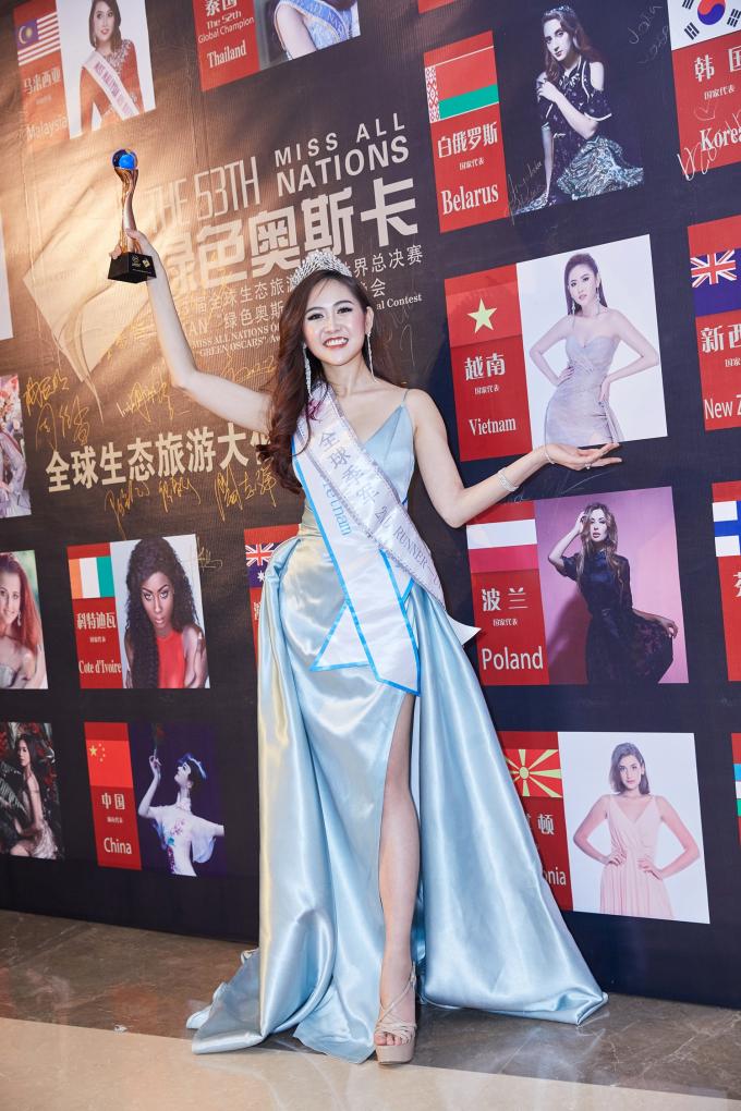 Trúc Ny đăng quang Á hậu 2 Hoa hậu các quốc gia - Miss All Nations 2019