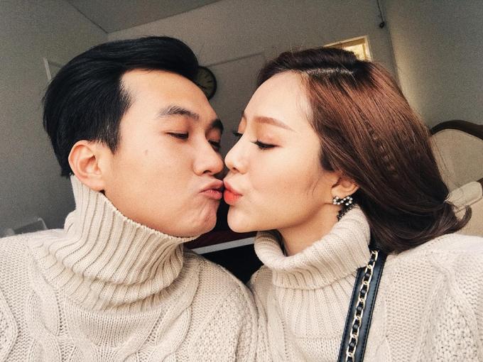 Hồng Anh Kichi và bạn trai - diễn viên Anh Tuấn.